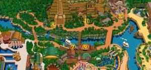 ロストリバーデルタ隠れミッキーマップ