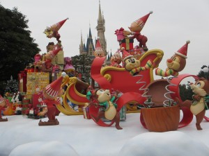 TDL【クリスマス】城前2