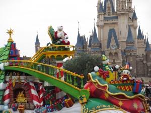 TDL【クリスマスパレード】サンタフロート