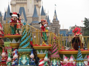 TDL【クリスマスパレード】ミッキーフロート